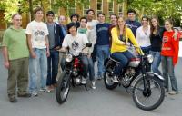 AB and BSE students come together in a freshman seminar on motorcycle design